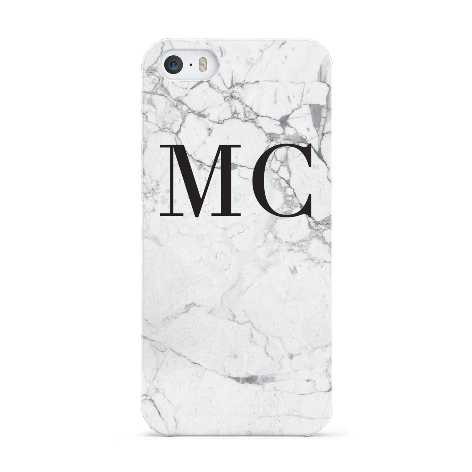 Personalised Marble Initials Apple iPhone 5 Case