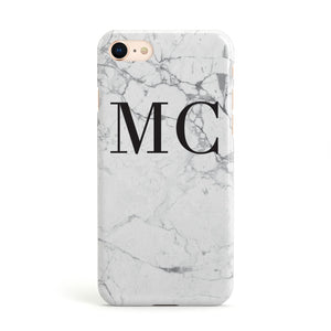 Personalised Marble Initials Apple iPhone Case