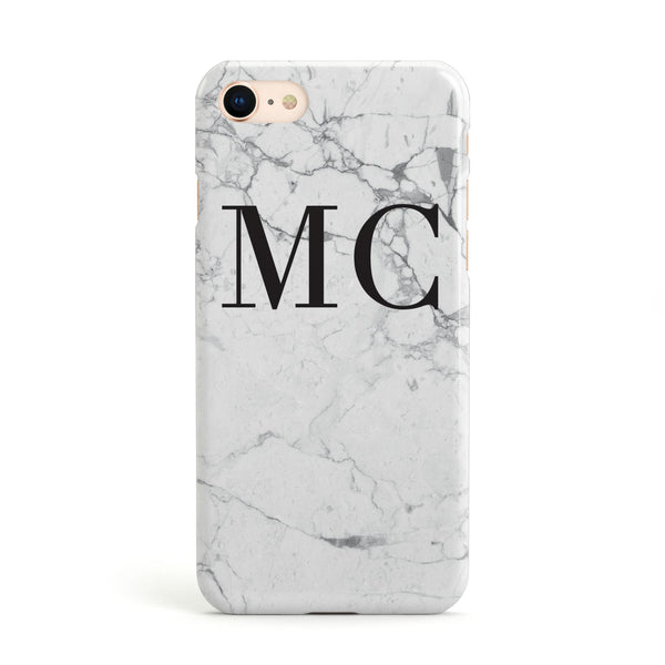 b6995dc7b Personalised Marble Initials Apple iPhone Case