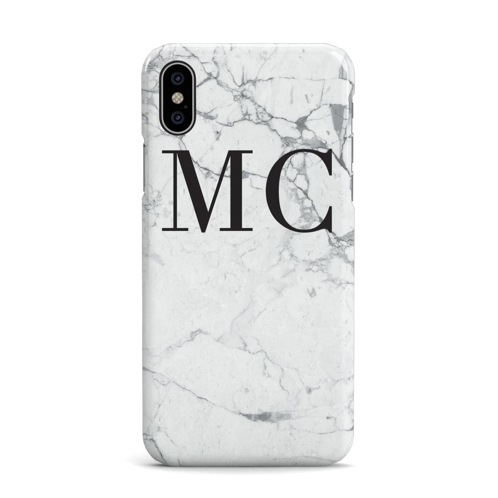 Personalised Marble Initials Apple iPhone X Case