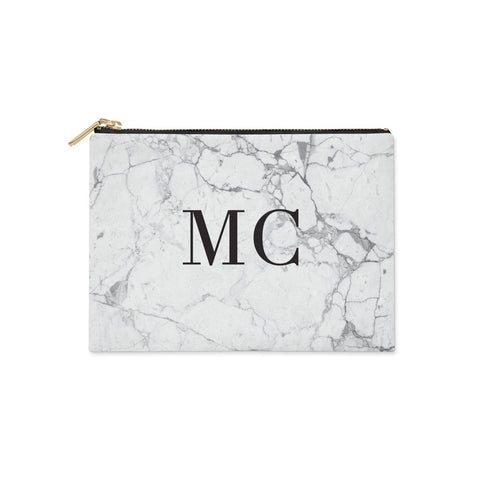 Personalised Marble Initials Clutch Bag