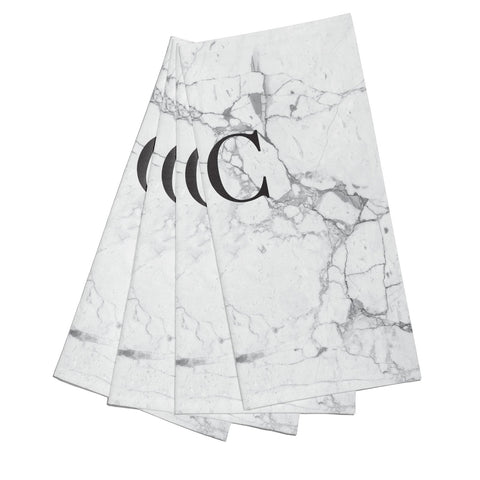 Personalised Marble Initials Napkins