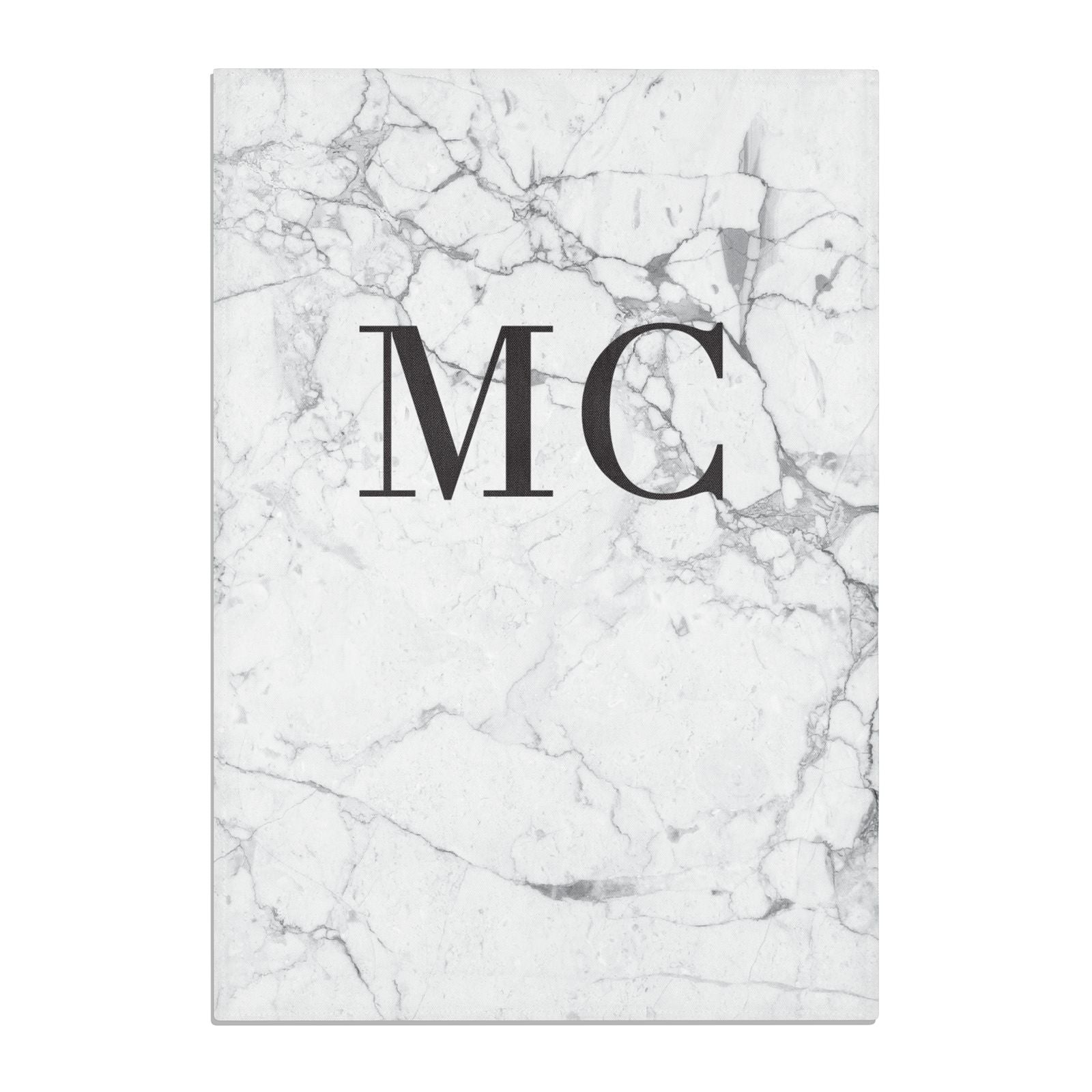 Personalised Marble Initials Cotton Tea Towel