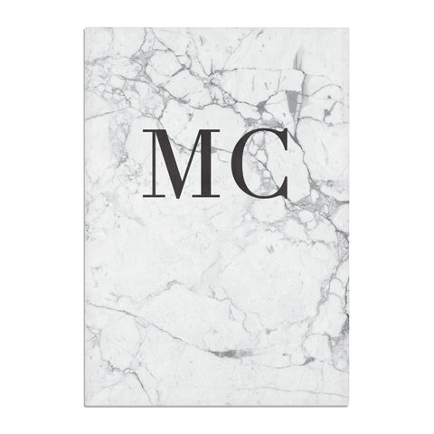 Personalised Marble Initials Tea Towel