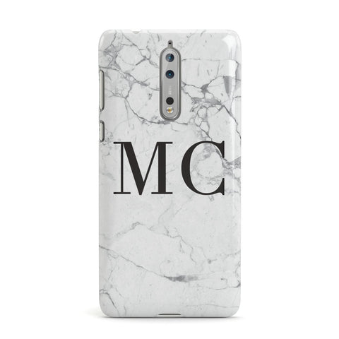 Personalised Marble Initials Nokia Case
