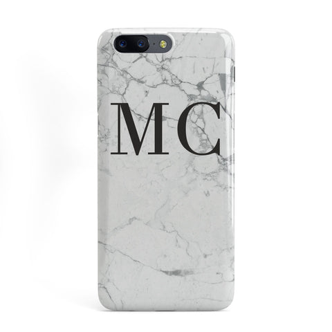 Personalised Marble Initials OnePlus Case