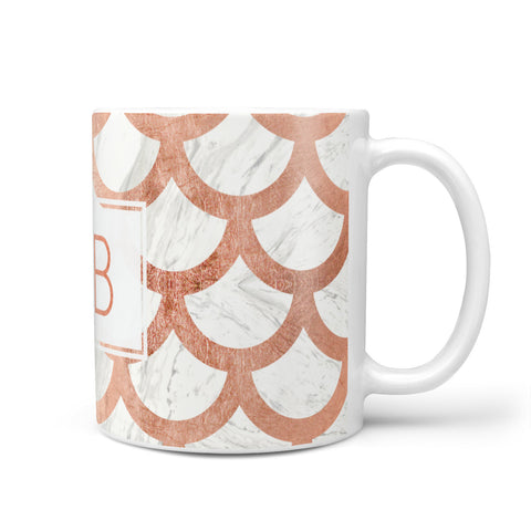 Personalised Marble Initials Scales Mug