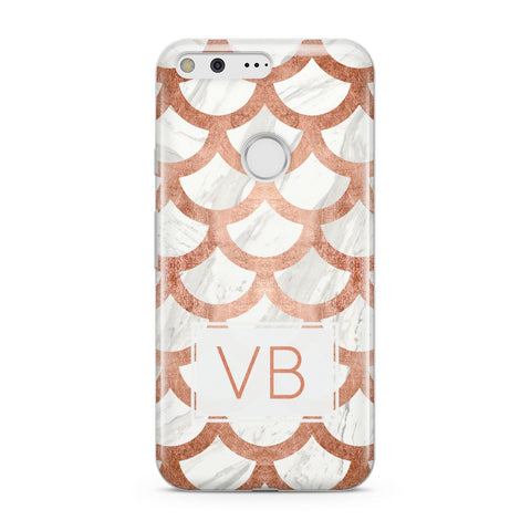 Personalised Marble Initials Scales Google Case