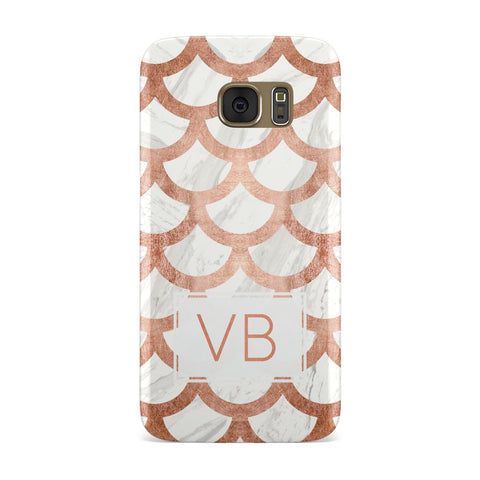 Personalised Marble Initials Scales Samsung Galaxy Case