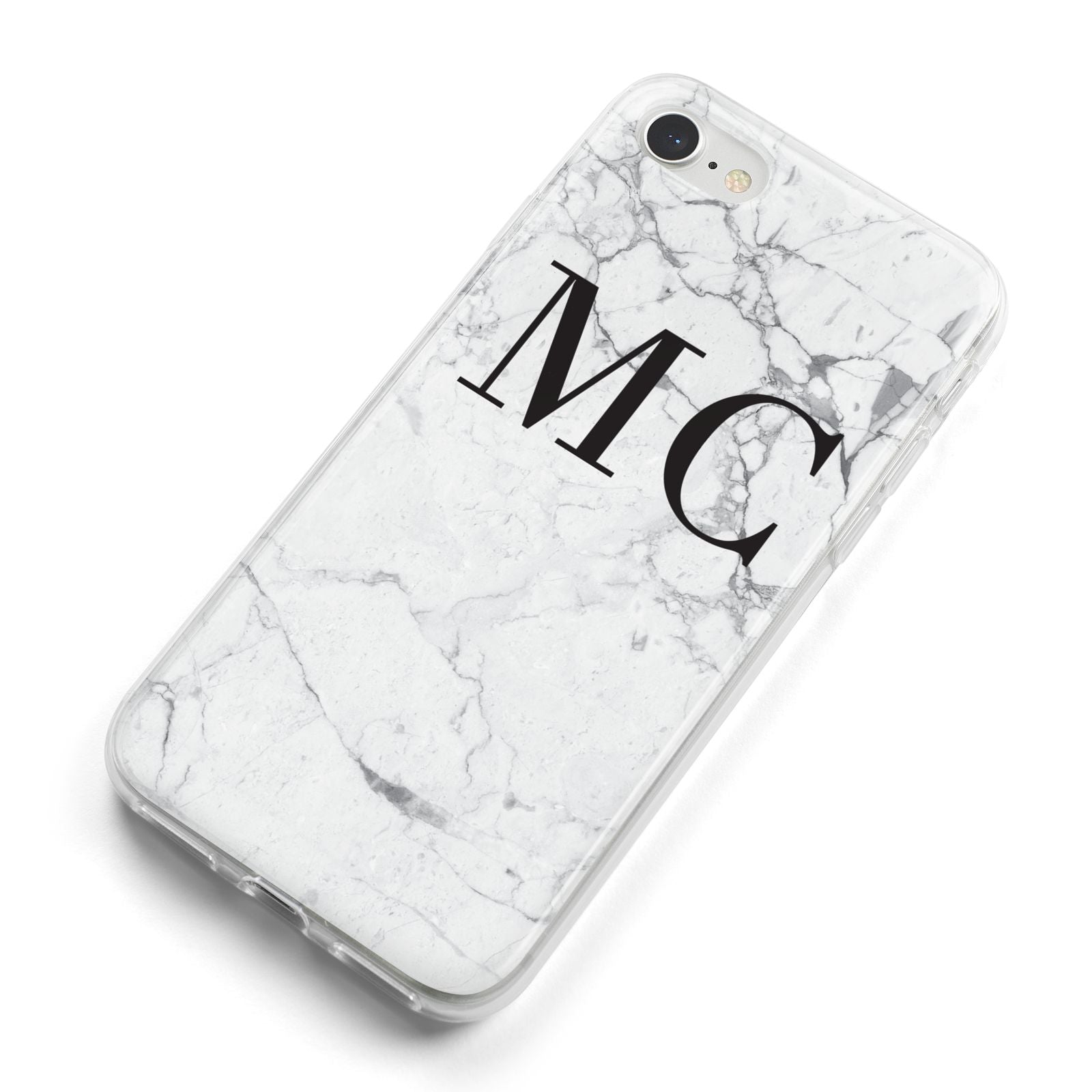 Personalised Marble Initials iPhone 8 Bumper Case on Silver iPhone Alternative Image