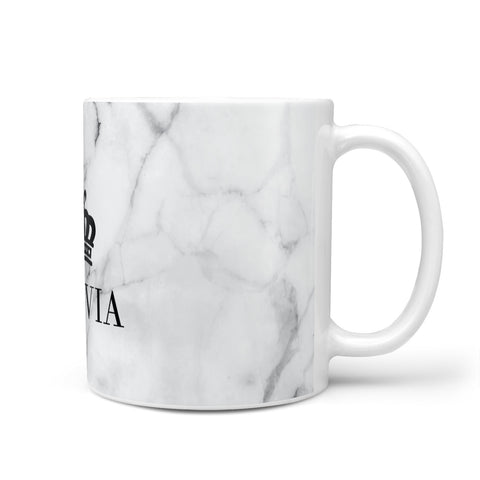 Personalised Marble Name & Crown Mug