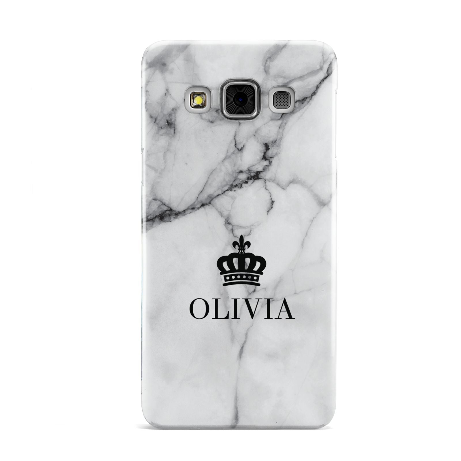 Personalised Marble Name Crown Samsung Galaxy A3 Case