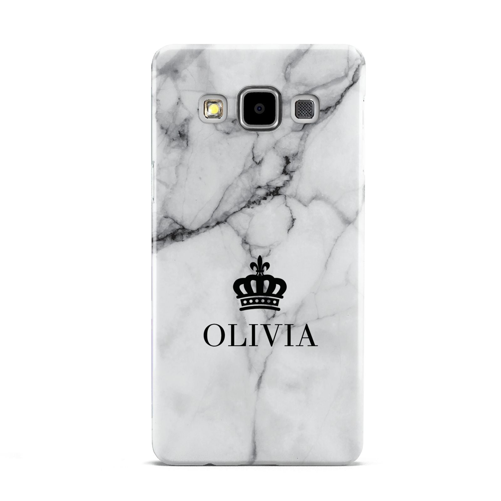 Personalised Marble Name Crown Samsung Galaxy A5 Case