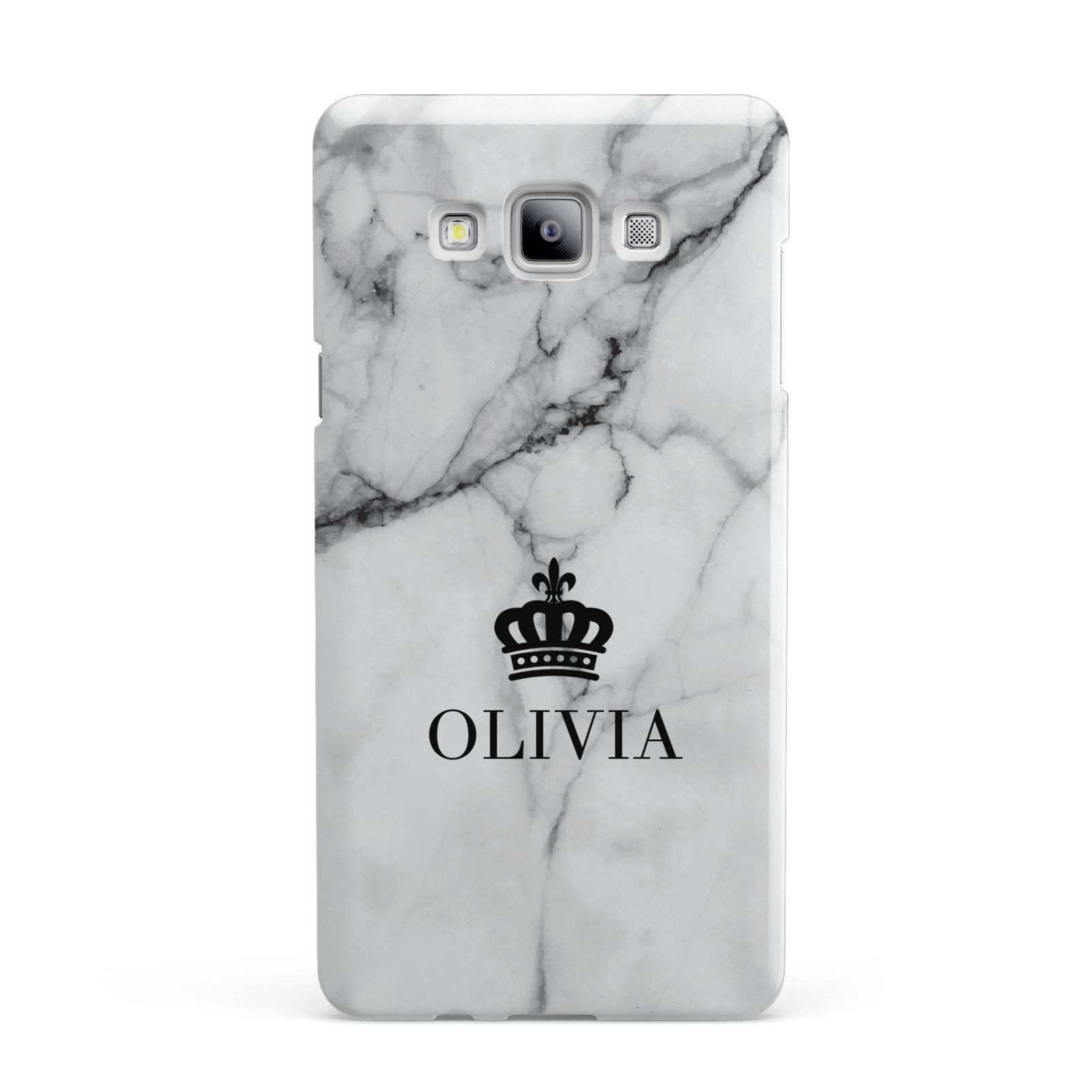 Personalised Marble Name Crown Samsung Galaxy A7 2015 Case