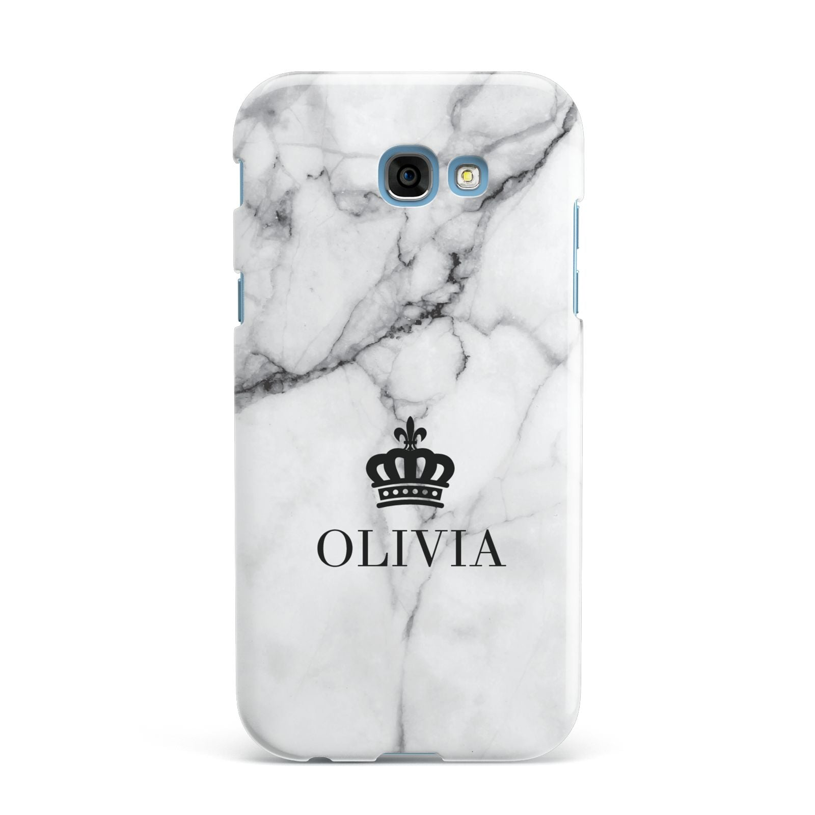 Personalised Marble Name Crown Samsung Galaxy A7 2017 Case