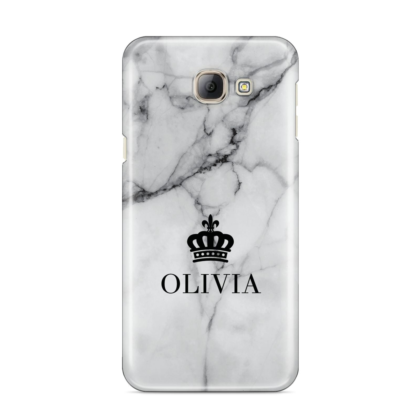 Personalised Marble Name Crown Samsung Galaxy A8 2016 Case