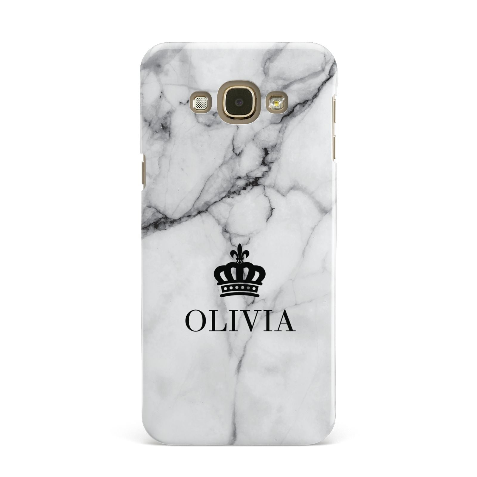 Personalised Marble Name Crown Samsung Galaxy A8 Case