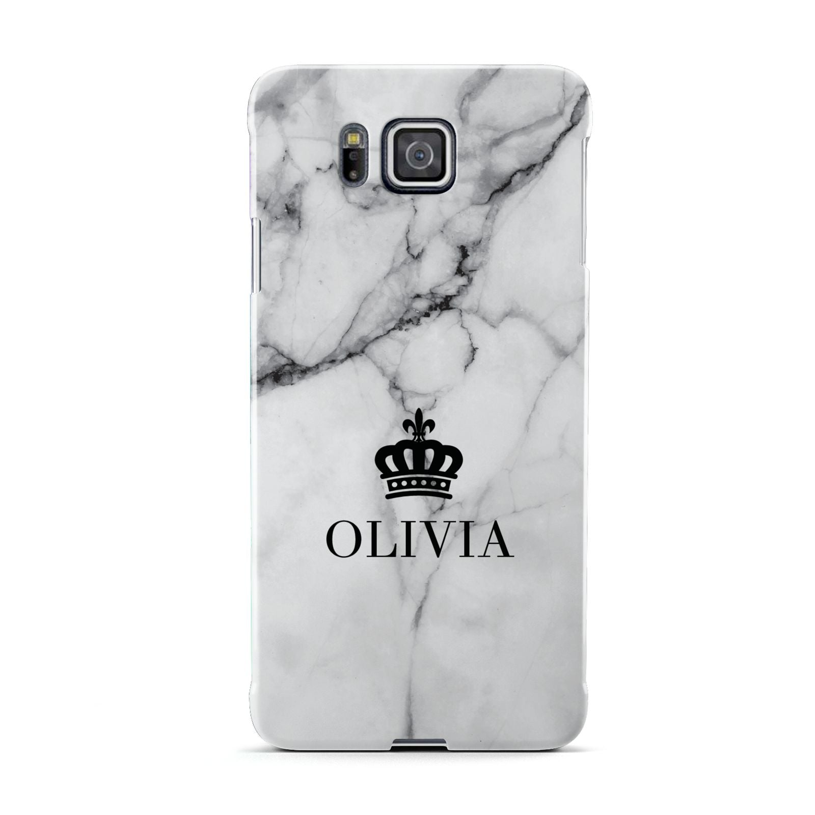 Personalised Marble Name Crown Samsung Galaxy Alpha Case