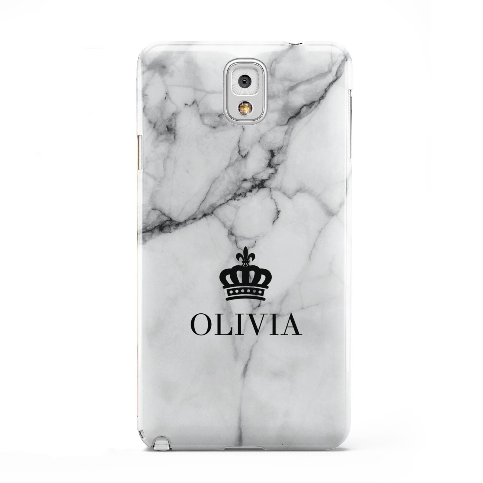 Personalised Marble Name Crown Samsung Galaxy Note 3 Case