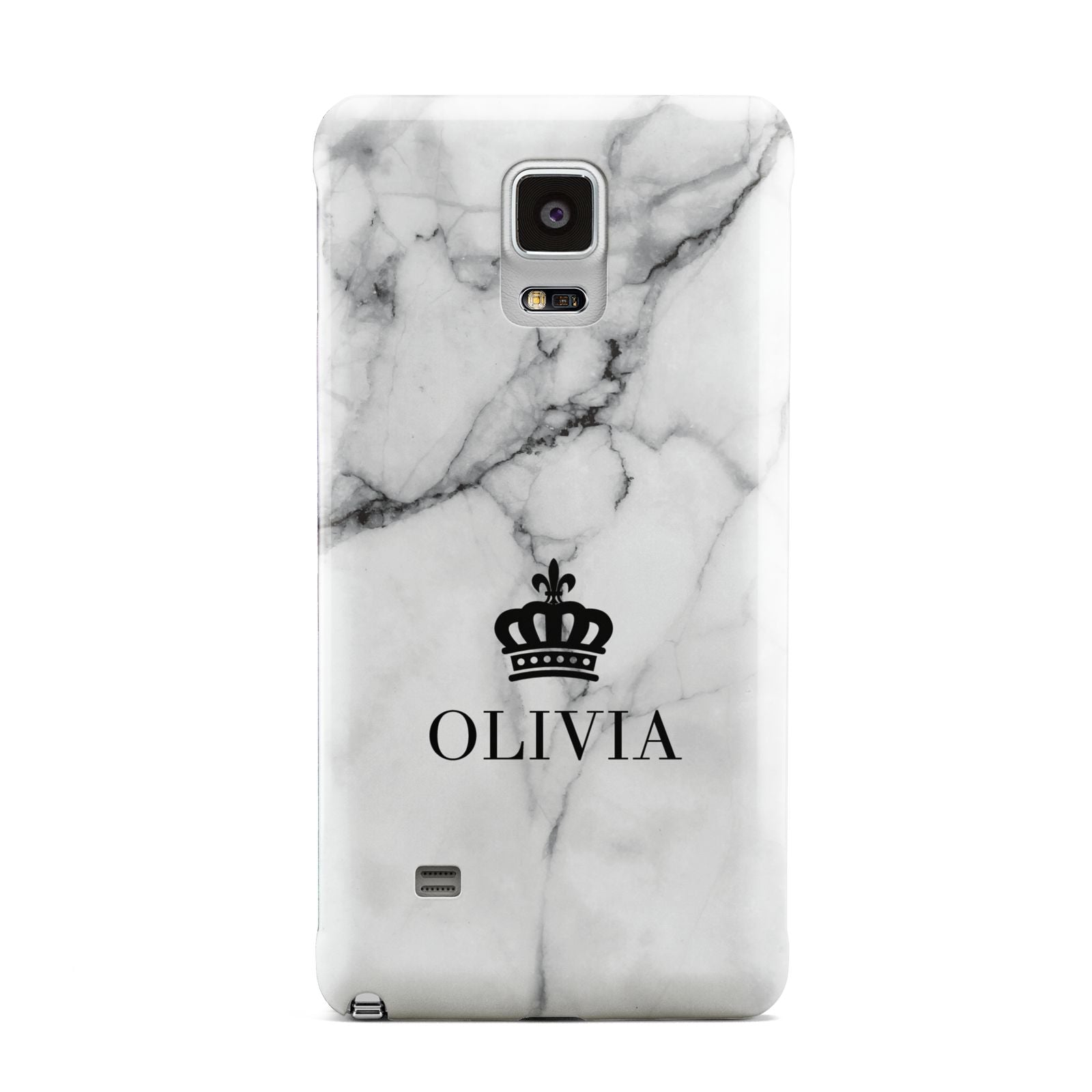 Personalised Marble Name Crown Samsung Galaxy Note 4 Case