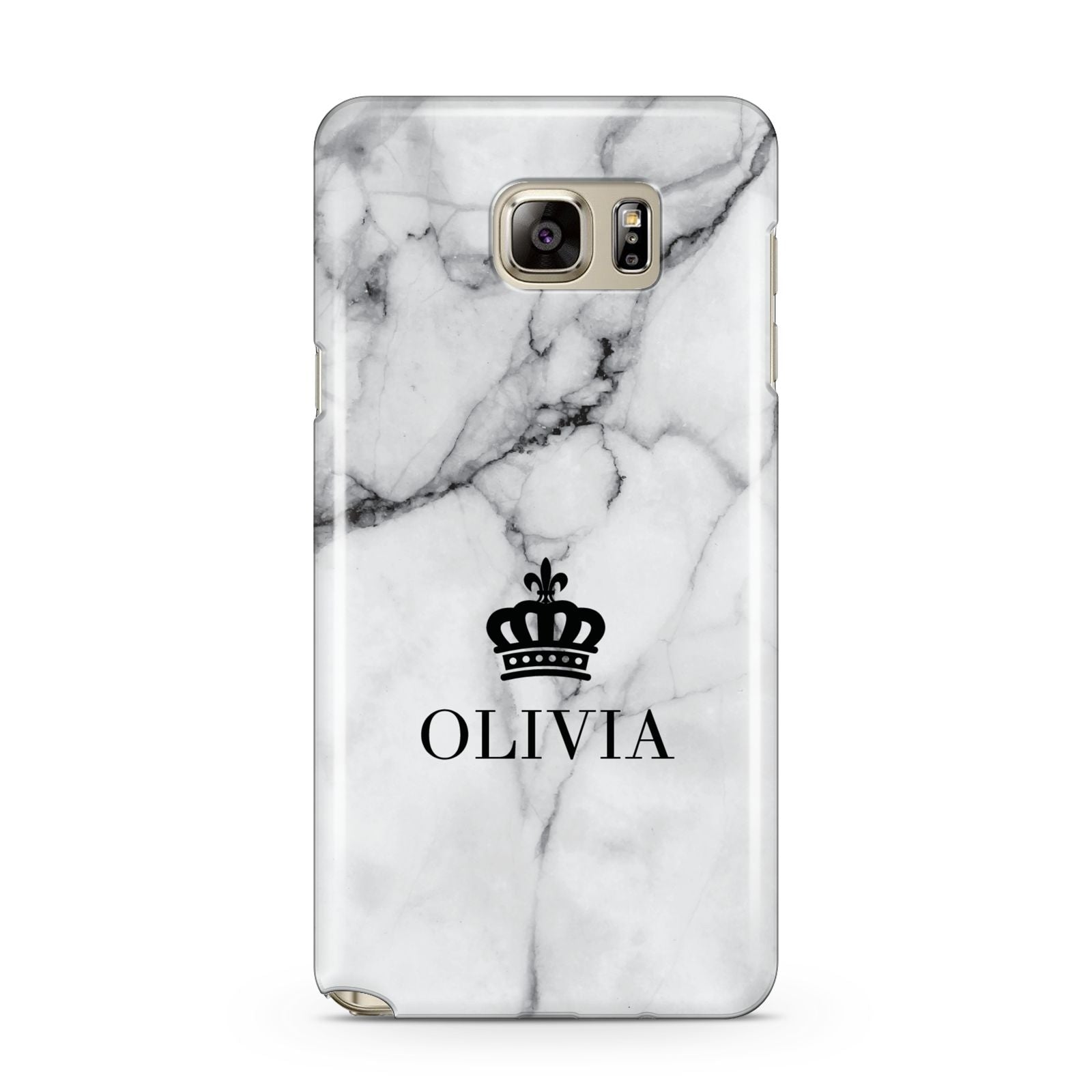 Personalised Marble Name Crown Samsung Galaxy Note 5 Case
