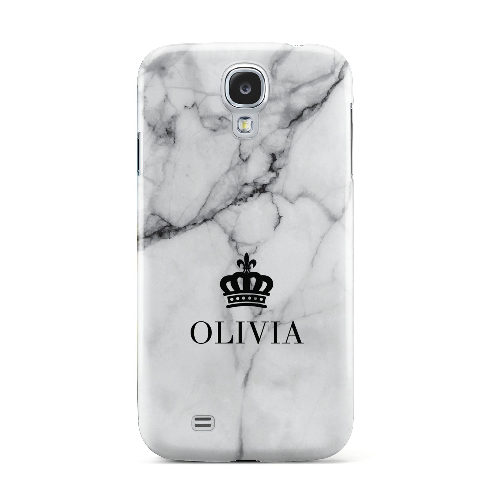 Personalised Marble Name Crown Samsung Galaxy S4 Case