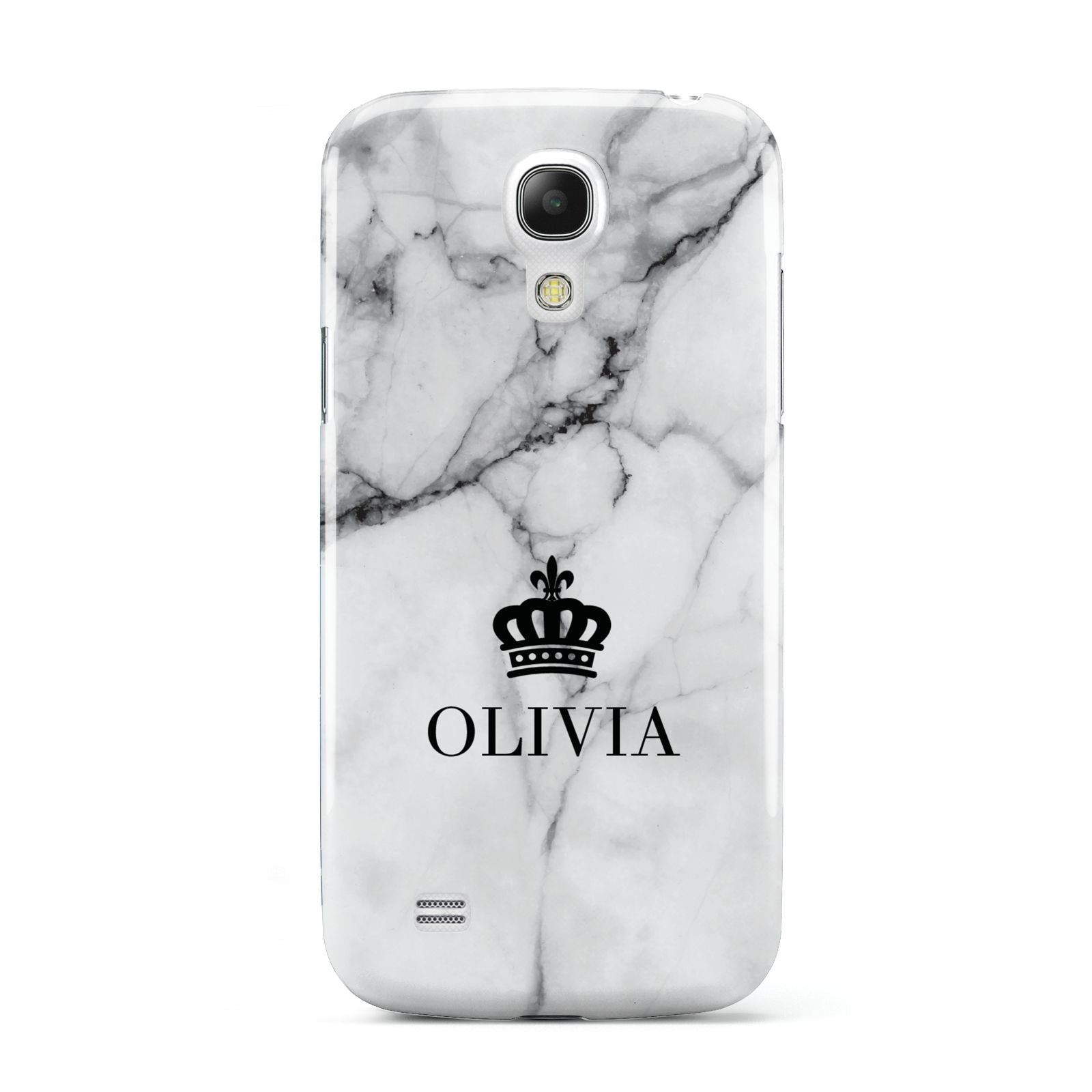 Personalised Marble Name Crown Samsung Galaxy S4 Mini Case