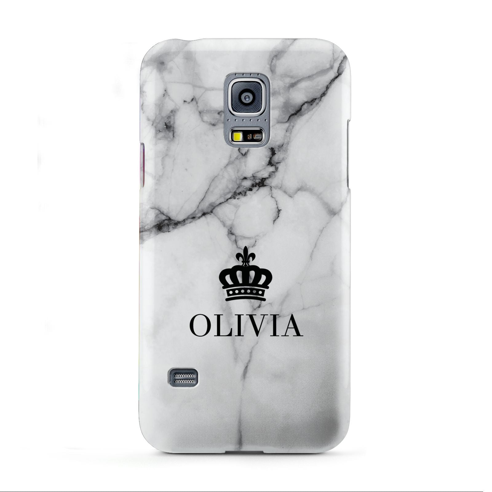 Personalised Marble Name Crown Samsung Galaxy S5 Mini Case