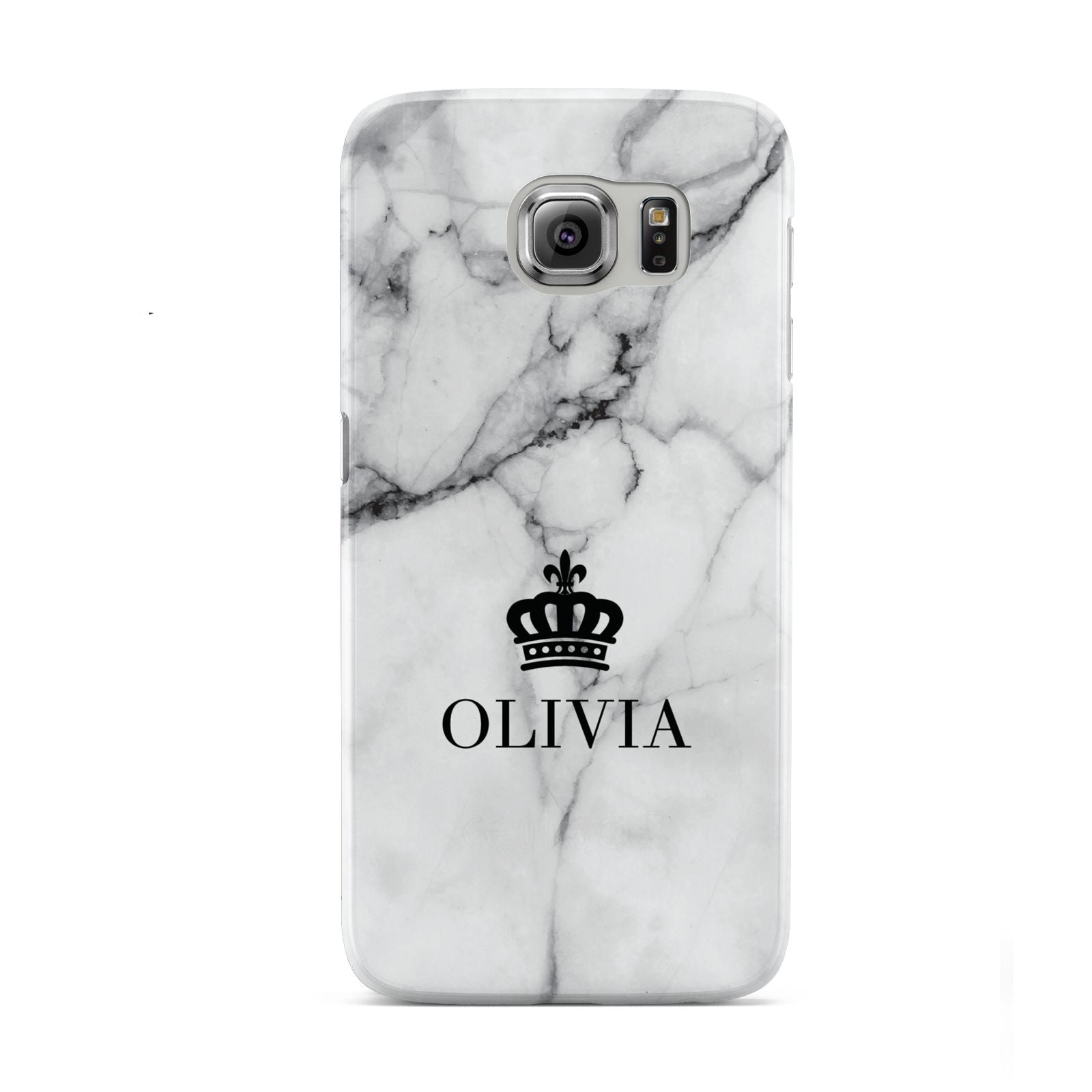 Personalised Marble Name Crown Samsung Galaxy S6 Case