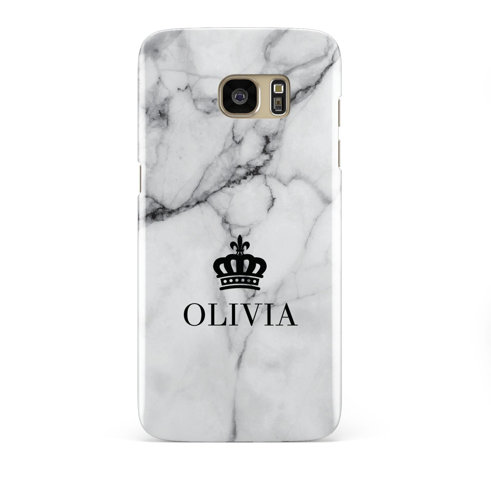 Personalised Marble Name Crown Samsung Galaxy S7 Edge Case