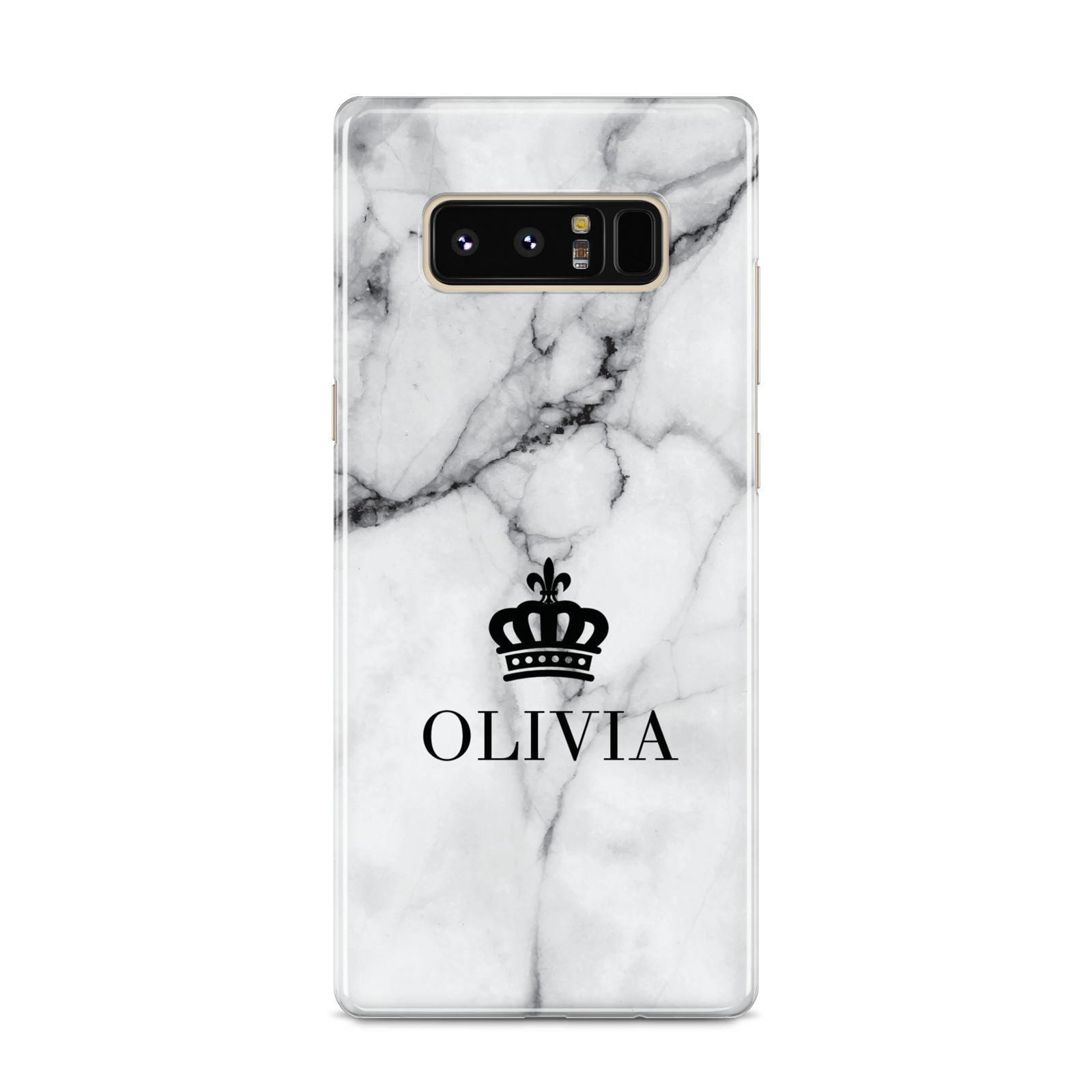 Personalised Marble Name Crown Samsung Galaxy S8 Case