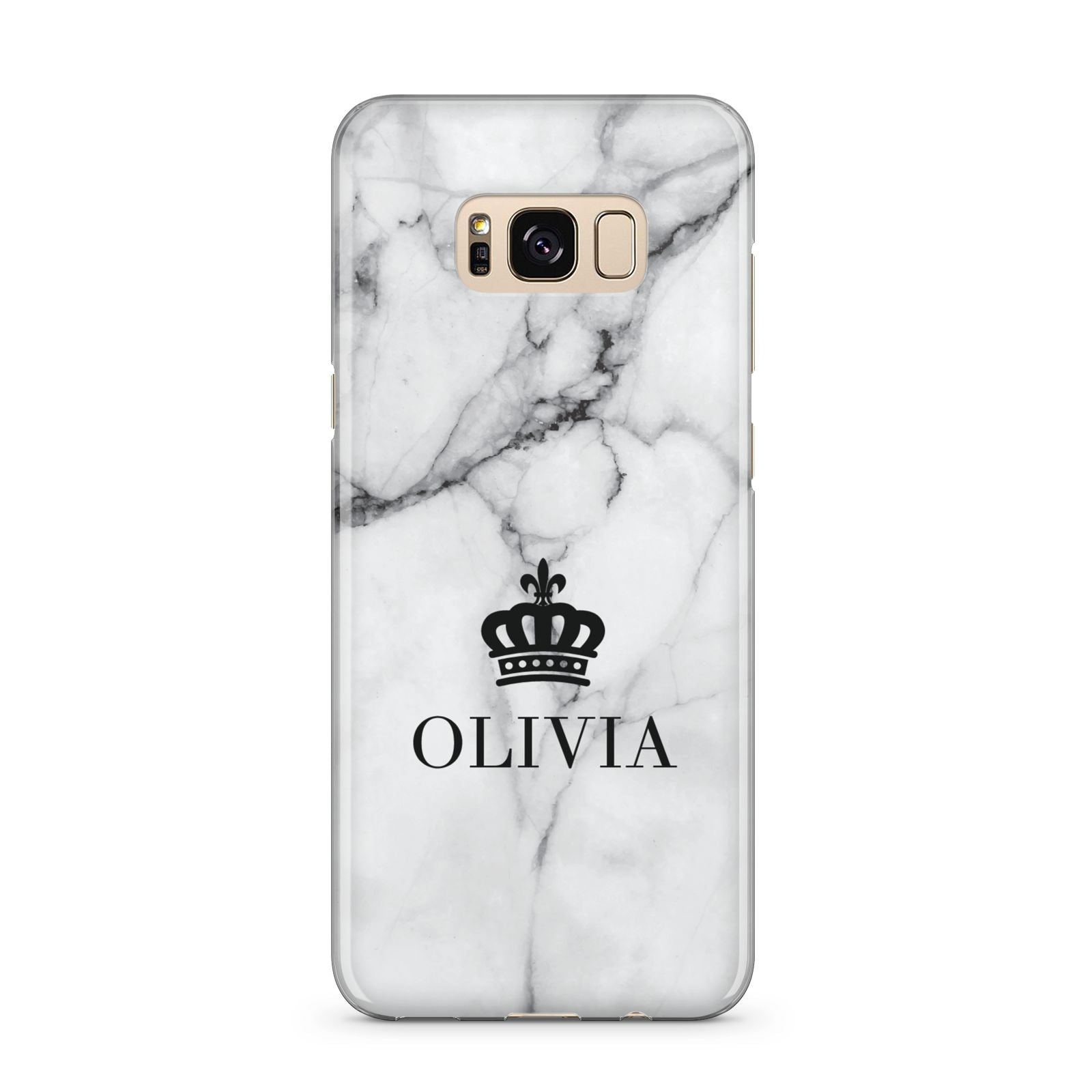 Personalised Marble Name Crown Samsung Galaxy S8 Plus Case