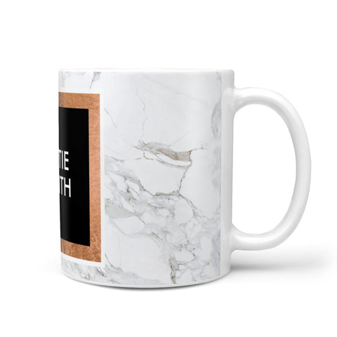 Personalised Marble Name Text Initials Mug