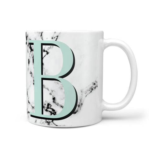 Personalised Mint Big Initials Marble Mug