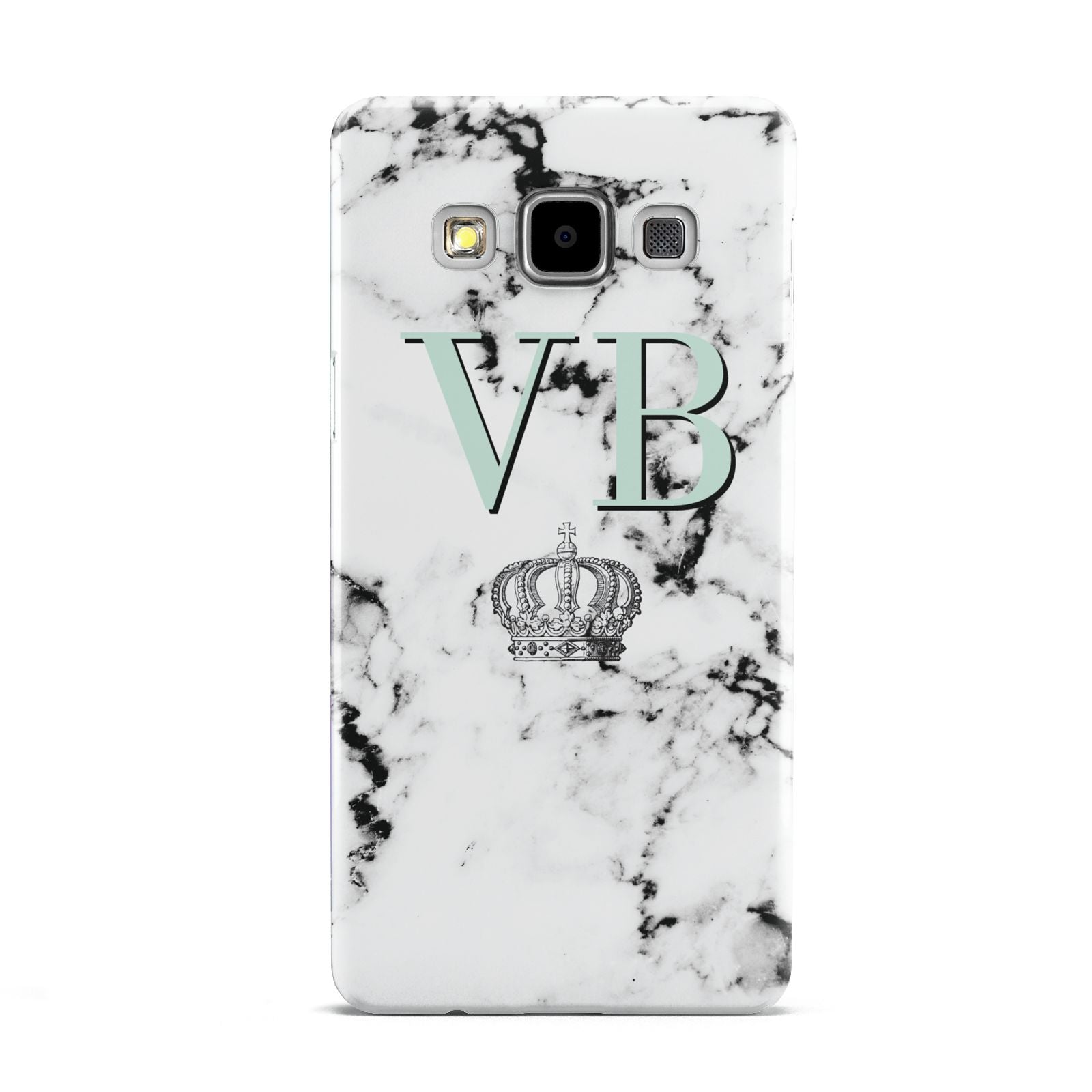 Personalised Mint Crown Initials Marble Samsung Galaxy A5 Case