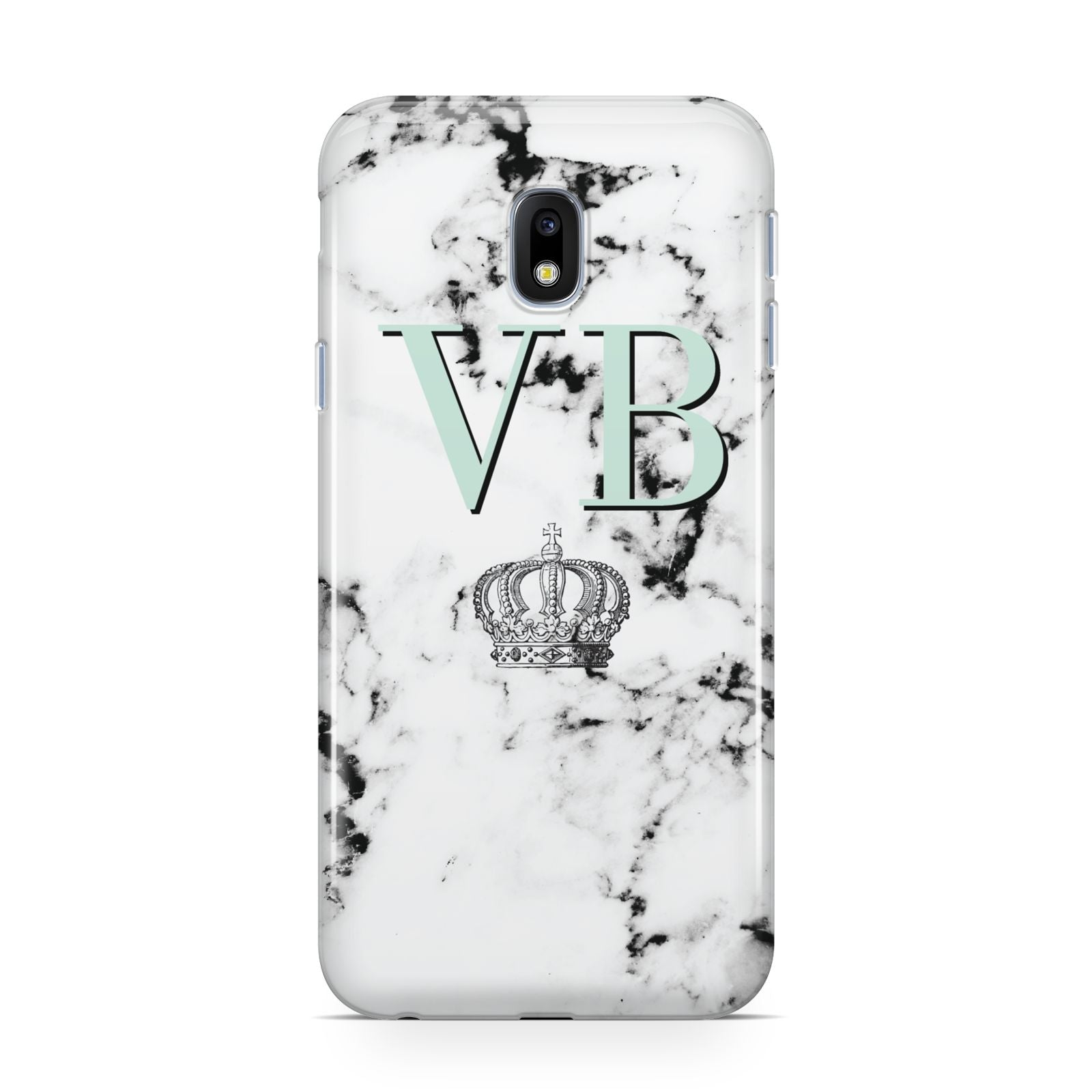 Personalised Mint Crown Initials Marble Samsung Galaxy J3 2017 Case