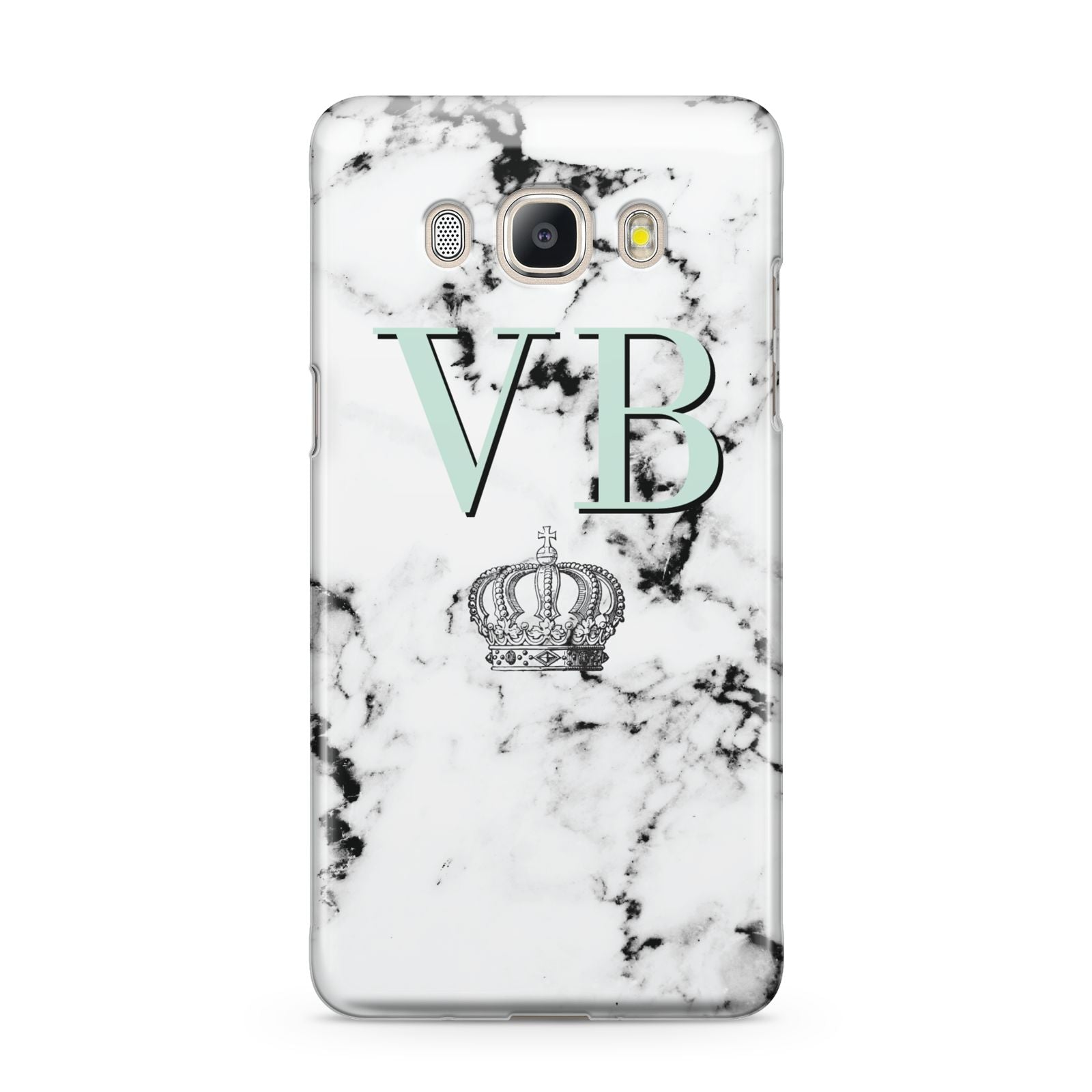 Personalised Mint Crown Initials Marble Samsung Galaxy J5 2016 Case
