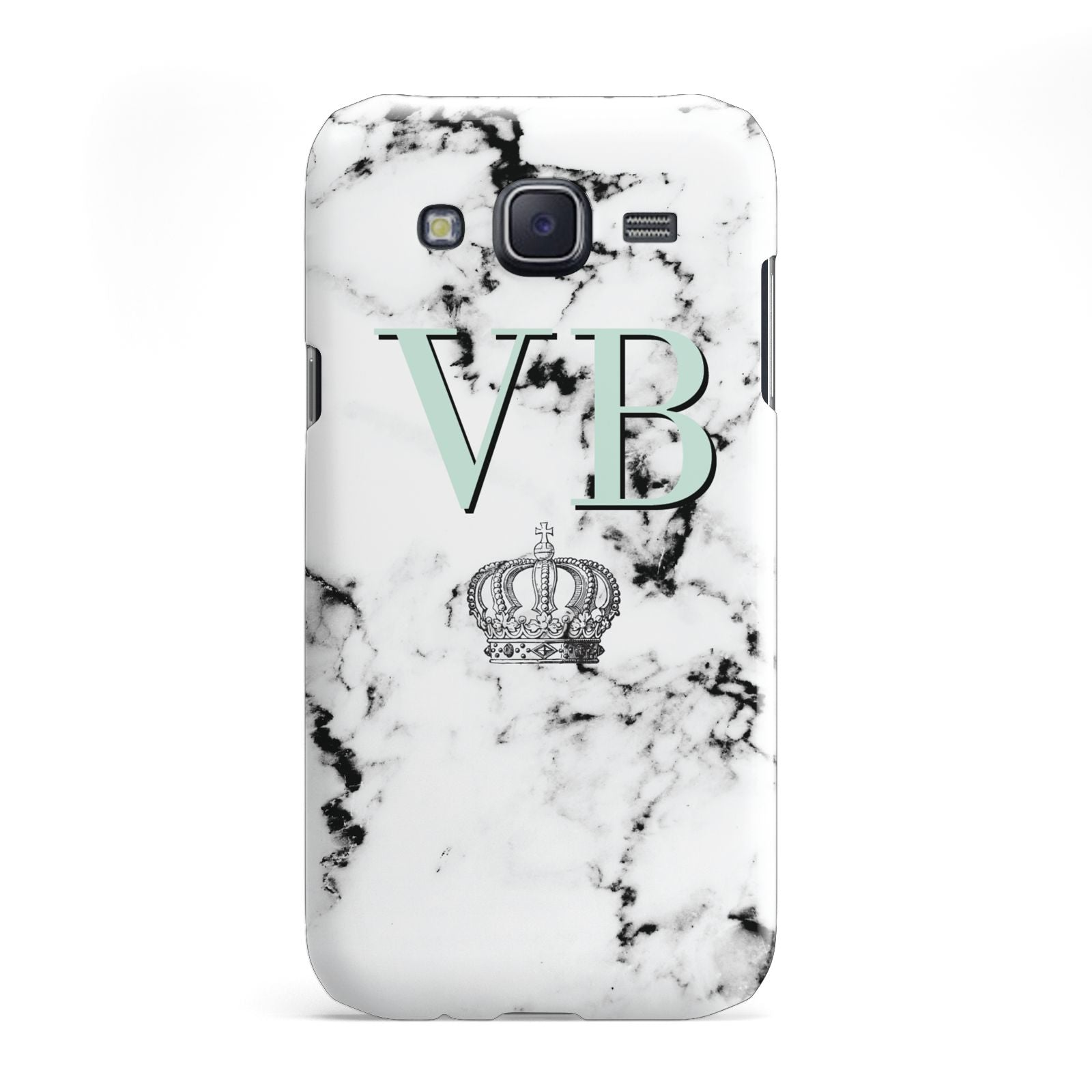 Personalised Mint Crown Initials Marble Samsung Galaxy J5 Case