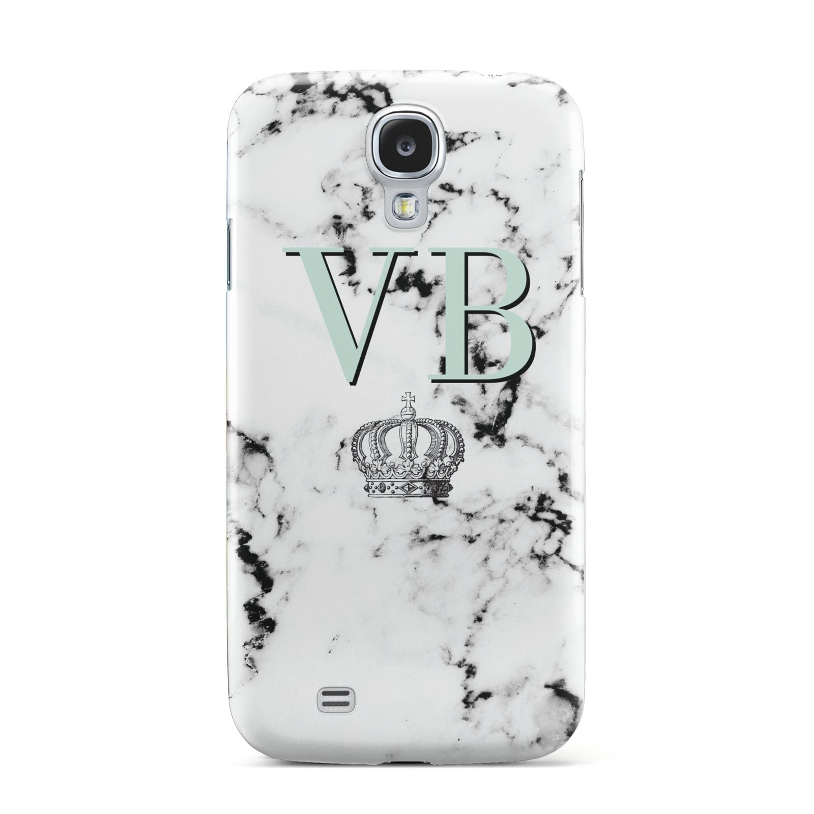 Personalised Mint Crown Initials Marble Samsung Galaxy S4 Case