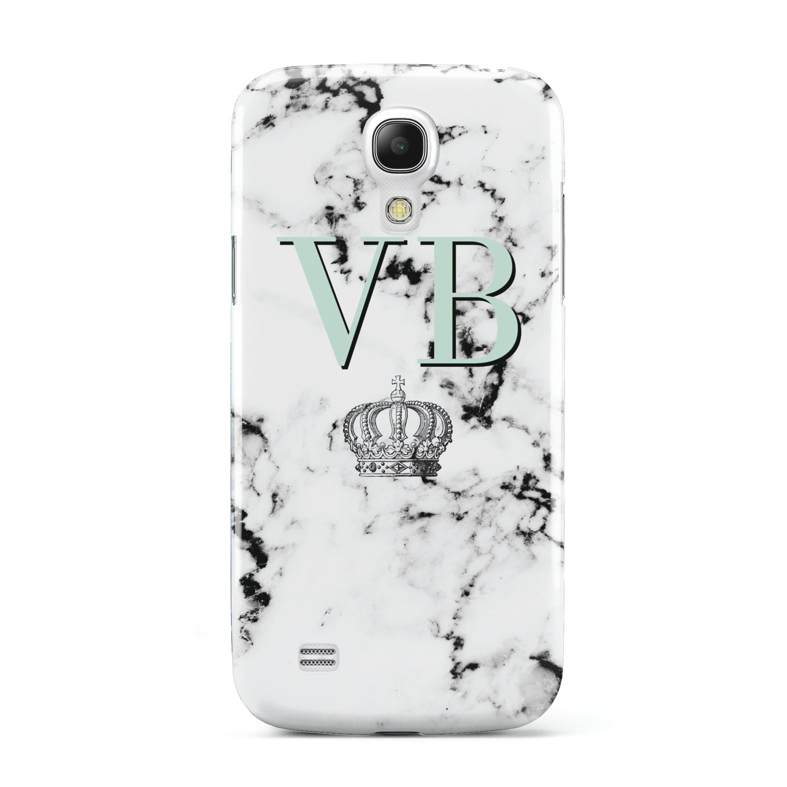 Personalised Mint Crown Initials Marble Samsung Galaxy S4 Mini Case