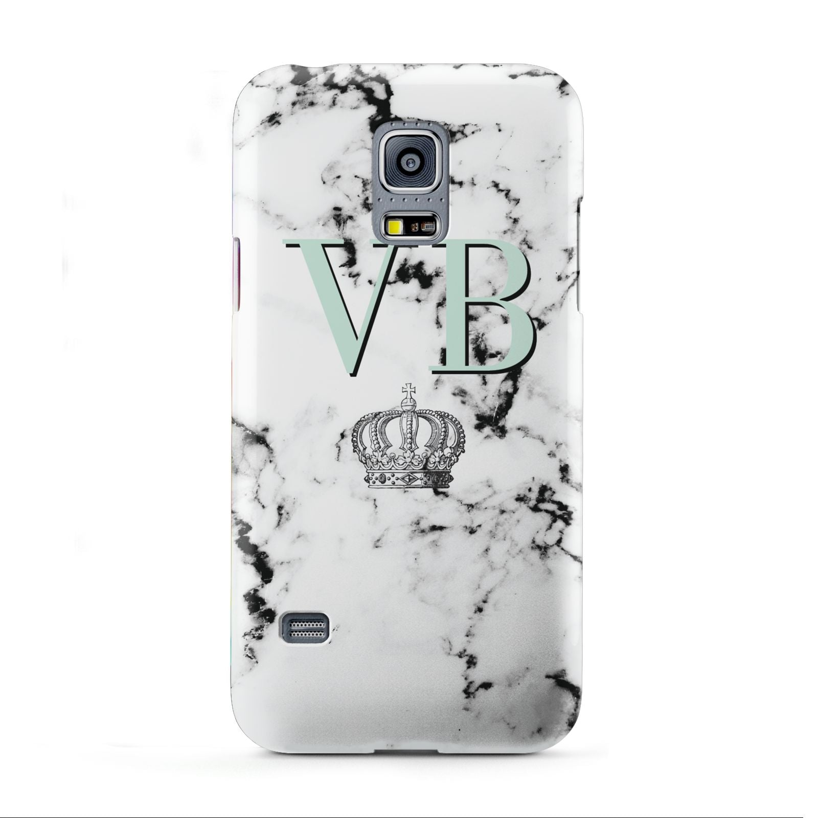 Personalised Mint Crown Initials Marble Samsung Galaxy S5 Mini Case
