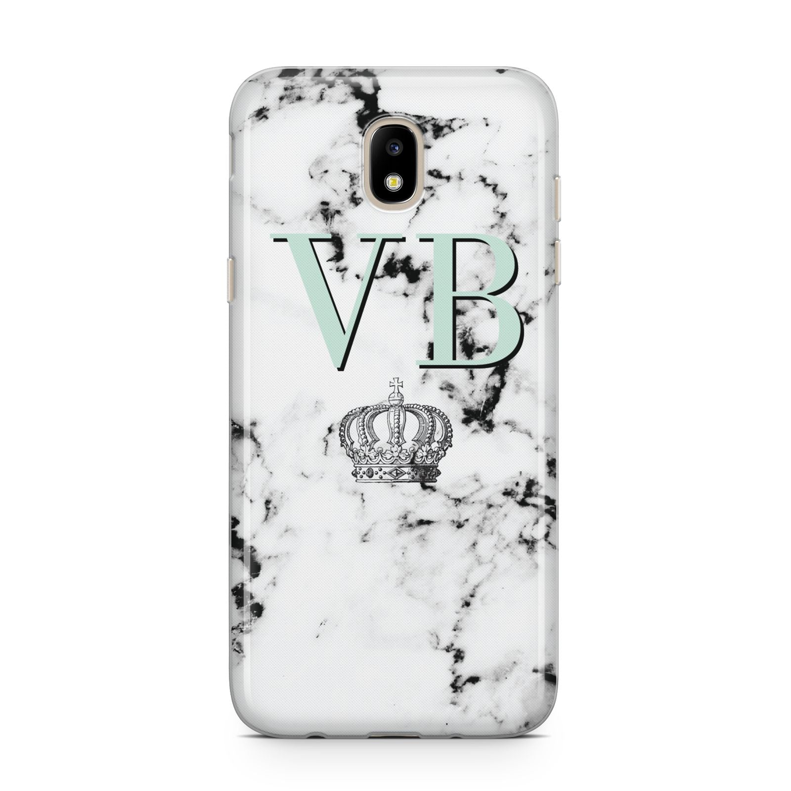 Personalised Mint Crown Initials Marble Samsung J5 2017 Case