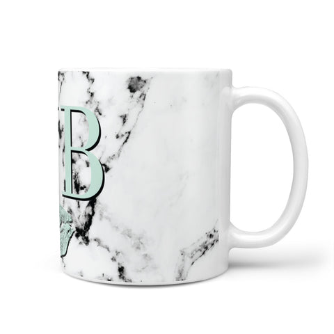 Personalised Mint Lips Initials Marble Mug