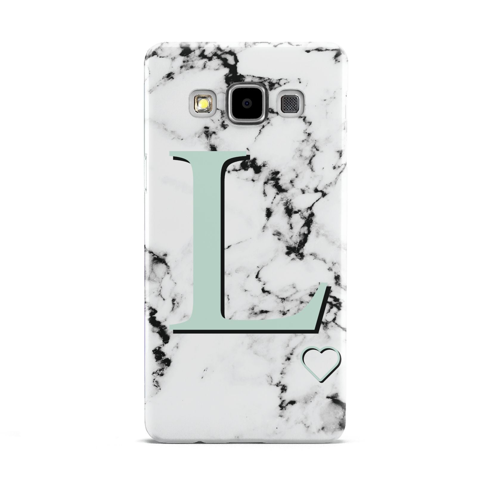 Personalised Mint Monogram Marble Heart Samsung Galaxy A5 Case
