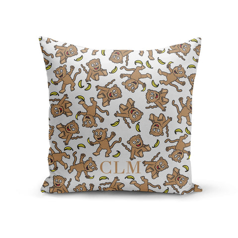 Personalised Monkey Initials Cushion