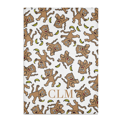 Personalised Monkey Initials Tea Towel