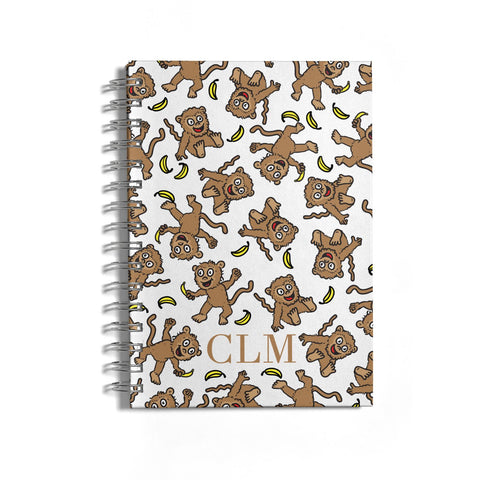 Personalised Monkey Initials Notebook