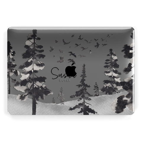 Personalised Monochrome Forest Macbook Case