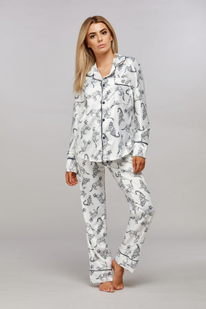 Personalised Monochrome Leopard Pyjamas