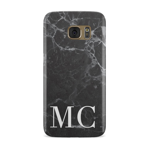 Personalised Monogram Marble Samsung Galaxy Case